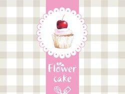 Логотип для компании Flower cake - торты на заказ
