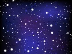 Ночное небо. Вектор.