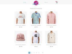 Простой интернет магазин одежды (Opencart)