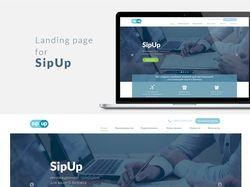 Дизайн лендинга для компании SipUp