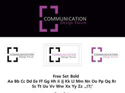 """Фирменный стиль """"Communication design forum"""""""