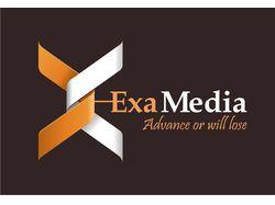 """Логотип для компании """"ЭксаМедиа"""""""