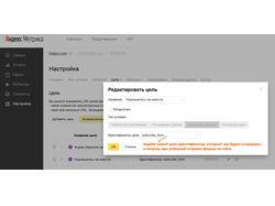 Настройка целей для Яндекс Метрики