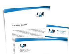 Конверт, бланк и визитка для Almi Print Service
