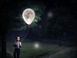 Boy and the moon