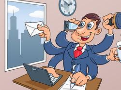Деловой человек в офисе