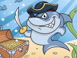 Акула - пират.