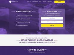 Дизайн сайта AstroLeads