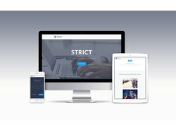 STRICT Landing Page | PSD to HTML