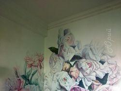 """Роспись стен """"Цветы"""""""