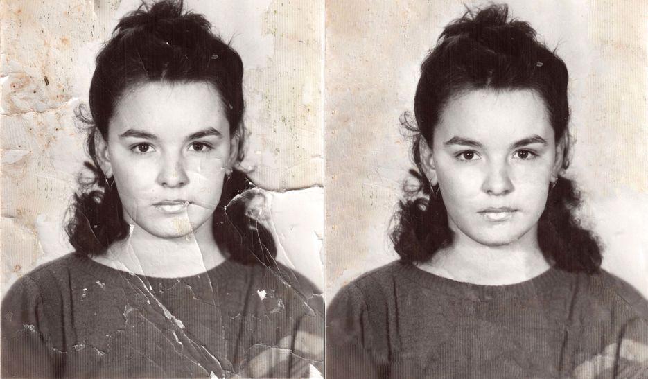 Восстановление старых фотографий в перово