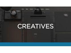 "Верстка шаблона ""Creatives"""