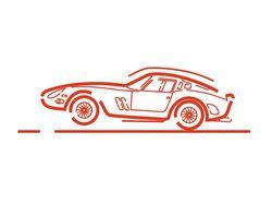 Логотип в строковом стиле