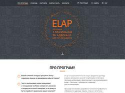 Дизайна сайта ELAP. Программа для топ менеджеров.
