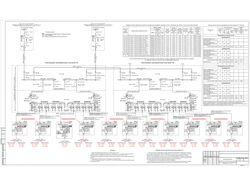 Марка ЭС. Электроснабжение. Однолинейная схема