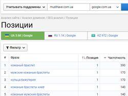 SEO продвижение интернет магазина Musthave.com.ua