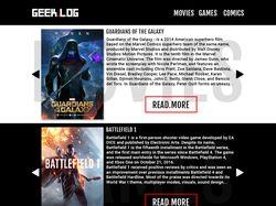 Дизайн сайта Geek.log