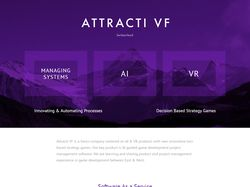 Attracti landing page