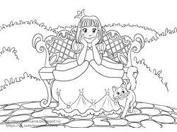 Фотография принцессы ( раскраска)