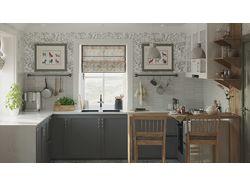 Дизайн и 3D визуализация кухни в частном доме