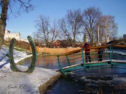 Мост влюбленных в г.Дмитрове