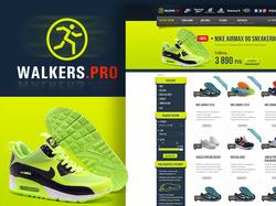 Дизайн интернет магазина кроссовок Walkers.pro