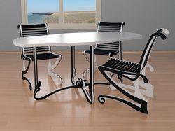 Комплект обеденной мебели. Дизайн и документация