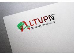 Разработанный логотип для проекта ALTVPN