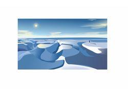 """векторная иллюстрация """"снег"""""""
