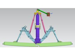 3D модель створок самолета. Siemens NX.