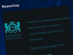 Фриланс на компанию NisanovCorp