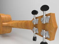 3D моделирование и визуализация гавайской гитары