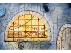 Мышка у витрины