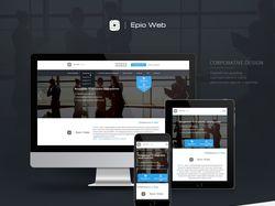 Дизайн сайта EpioWeb. Десктоп и мобильная версия.