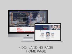 """""""IDC"""" Landing Page"""