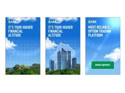 Дизайн и анимация HTML5 баннера для банка/трейдера