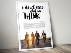 Плакат «Fall Out Boy»