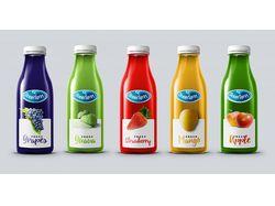 Дизайн серии этикеток для сока