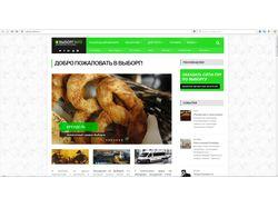 Дизайн и верстка сайта ВЫБОРГINFO