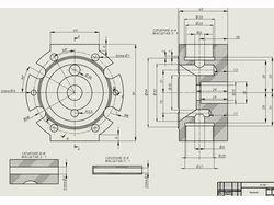 SolidWorks. Крышка. Модель и чертёж.