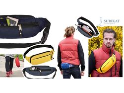 Реклама рюкзаков и поясных сумок.