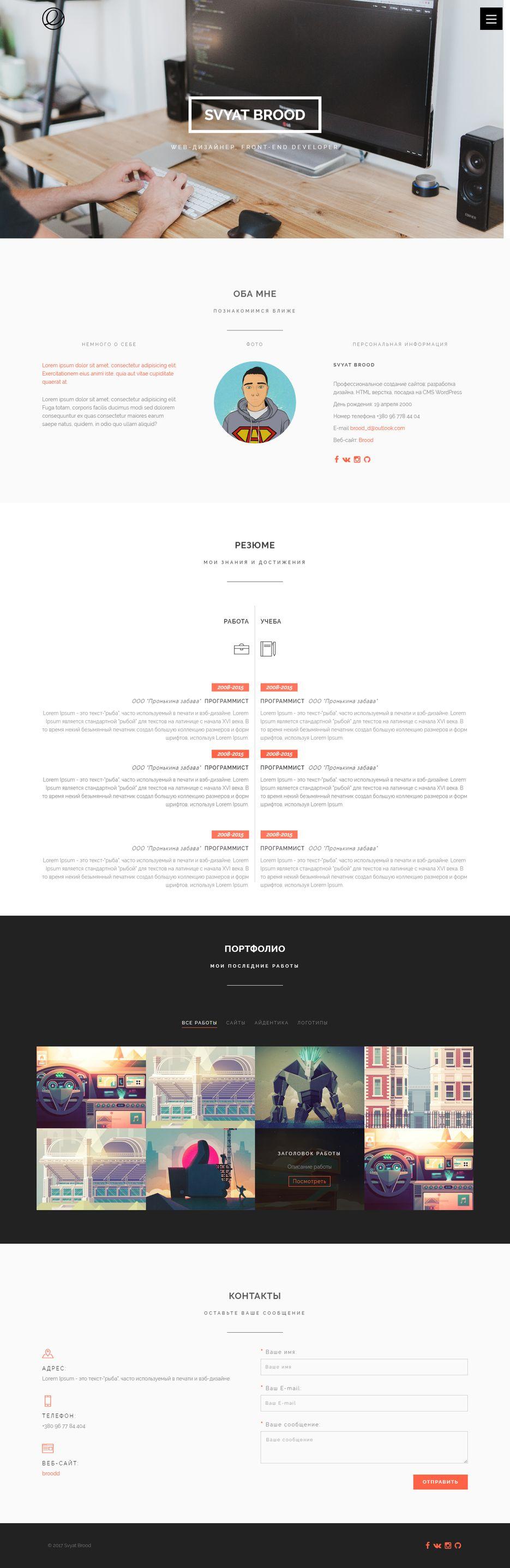 Портфолио на WordPress