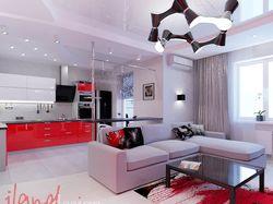 Дизайн интерьера квартиры-студии.