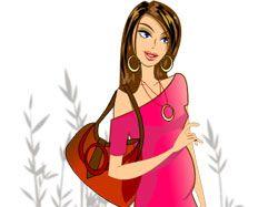 Девушка-Джинсы для магазина одежды для беременных