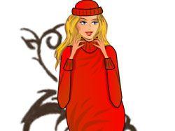 Девушка-Свитер для магазина одежды для беременных