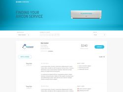 Finding your aircon service