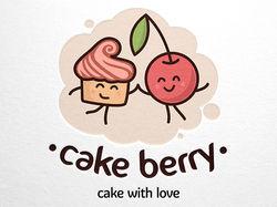Логотип для кондитерской CAKE BERRY