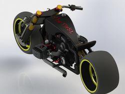 """""""Power cruiser"""" motorcycle"""