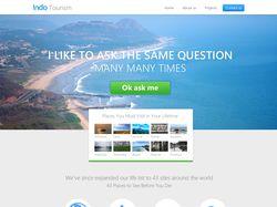 Indo Tourism. Landing page туристического агенства