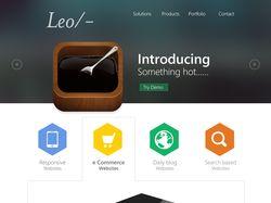 Leo/- Адаптивный Landing page
